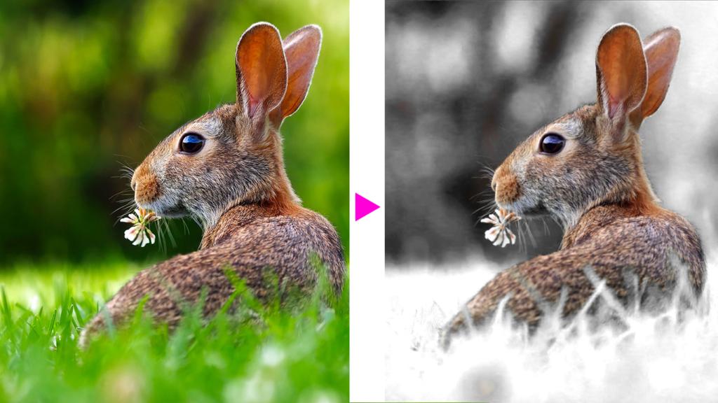 Photoshopで画像に雪を降らせる手順1「調整レイヤーで写真の色調を変化させる」